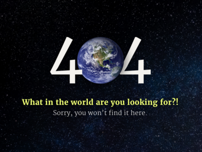 404 Page   Daily UI Day 8