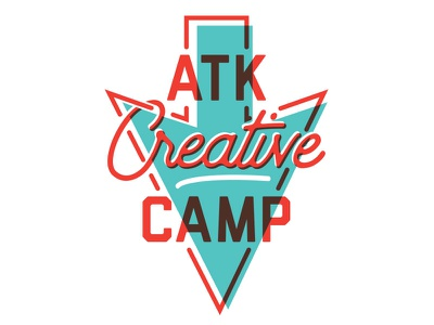 ATK Creative Camp '18 logo illustration creative design camp