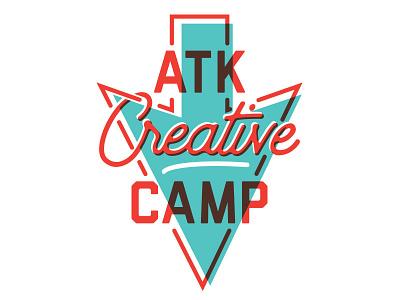 ATK Creative Camp '18 logo illustration creative design camp