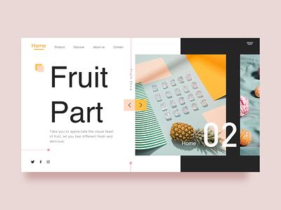 Fruit Part web less is more inspiration fruit food color colour ux designer