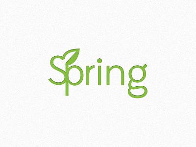 Spring logo spring green season