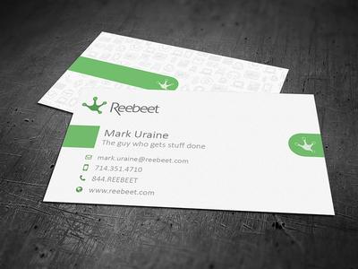 Reebeet Business Card business card design