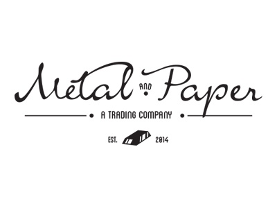 Metalandpaper logo retro