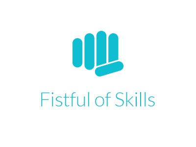 Fistful of Skills logo logo modern