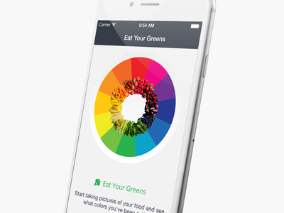 Eat Your Greens nutrition mobile iphone app iphone colors pie chart