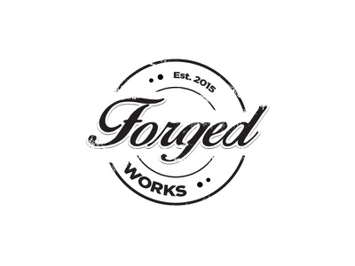 Forgedworks Logo retro antique grunge logo forge