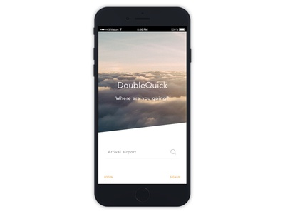 Doublequick Home Screen mobile