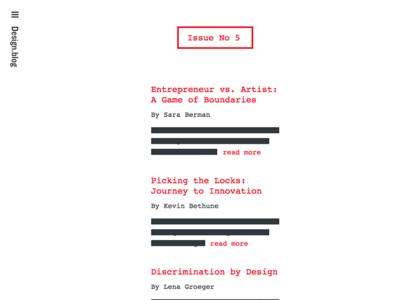 Design.blog Issue #5 front page blog design automattic