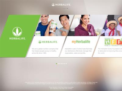 Startherbalife website ui design