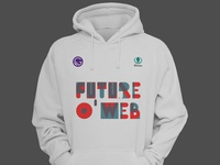 Fow Swag branding typography design hoodie