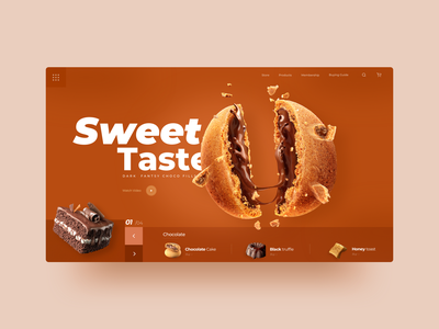 Delicious Food Web yellow delicious food minimal flat ux app ui illustration logo web design illustration typography logo icon app web ui icon