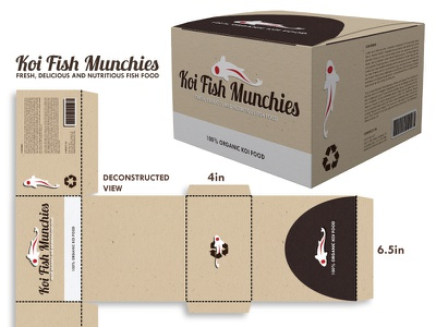 Package Design package koi fish package design