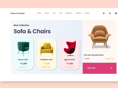 home furniture gif flat web app vector ux graphic design graphic design branding ui