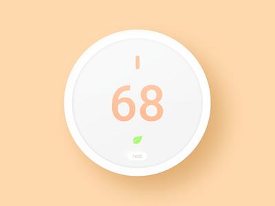 Nest Thermostat E nest google thermostat mockup figma