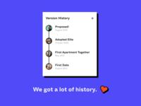 We got a lot of history