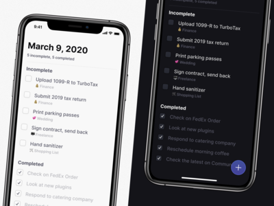 To-Do List App for iOS checkmark incomplete auto complete todo ios list things auto layout figma