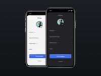 App Profile Settings save profile page account ios app ios settings page profile settings ui