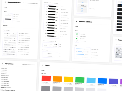 iOS UI Components figma components design system ios