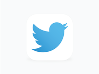 Twitter Icon for iOS 8