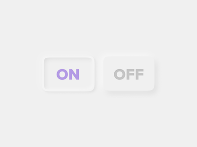 On & Off view ui switch neumorphism toggle interface