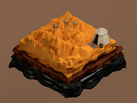 Desert Low Poly 3D