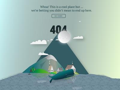 Sea 404 color fun ghost button home site found lost typography ui web