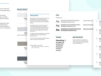 Style Guide WIP sort order style library patterns style guide