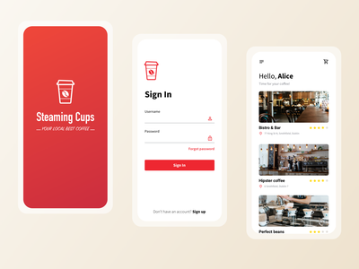 Coffee ordering app food app food ordering modern dashboard ui logo sketch coffee order coffee shop coffee cup cafe application design cards design order management dashboad product design mobile design mobile app