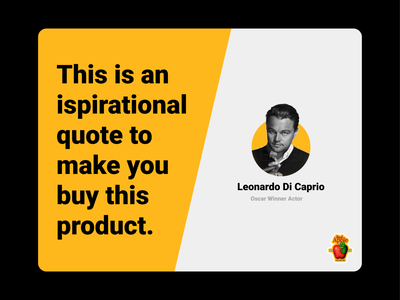 Testimonial - UI Design uiux marketing quote dailyui ui advertising sponsor celebrity actor testimonial