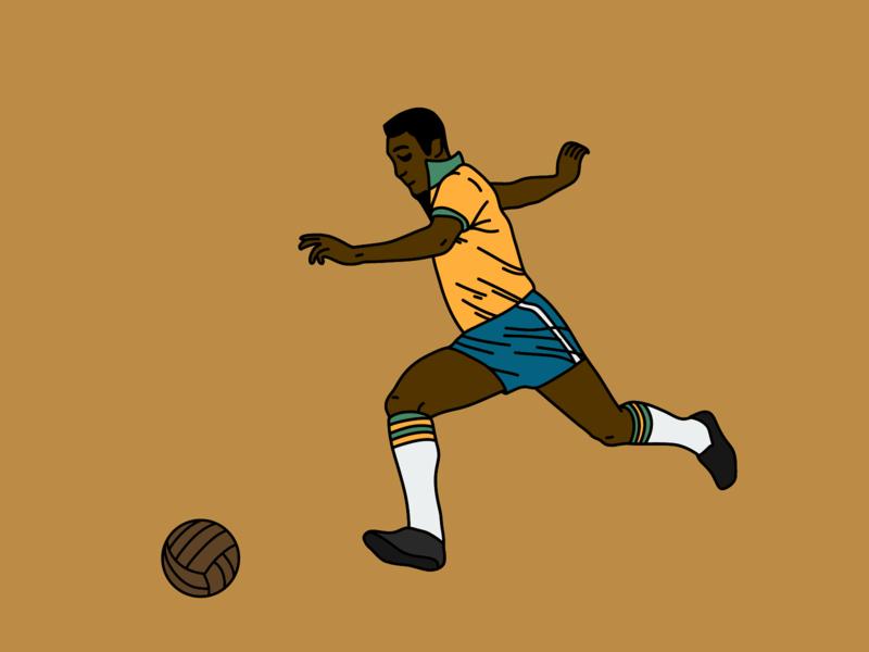 FOOTBALL MOMENTS history sport megazine palette design soccer football illustration
