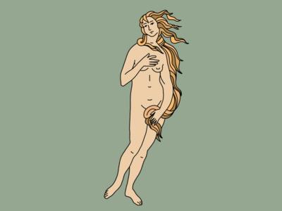 Venere di Bottcelli megazine classic poster palette design artwork art venus illustration