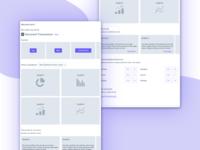 Dashboard: Wireframe