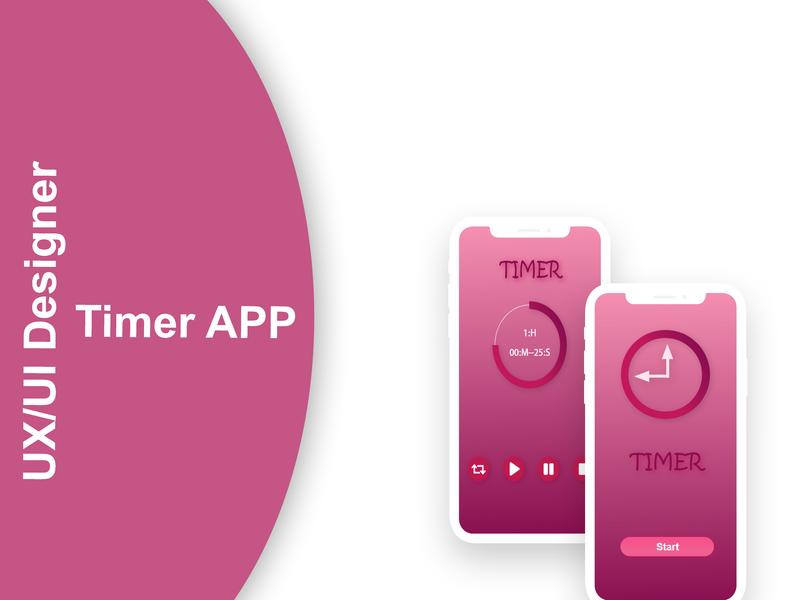 Timer App ux  ui uxui ux design uxdesign ux ui  ux uiux ui design ui uidesign photoshop iphone app iphone illustration design app android app android