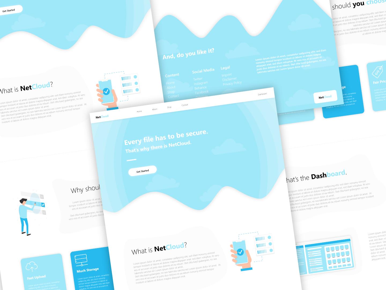 NetCloud Webdesign by Joel Ruiz Cabrera on Dribbble
