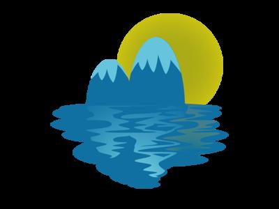 Mountains web vector ui website icon illustration design