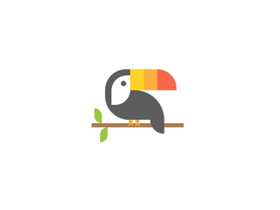 Toucan illustration vector branding logo toucan safari jungle wildlife bird geometric