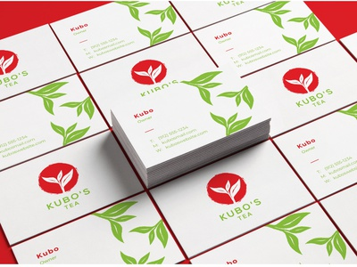Japanese Tea - Business Card japanese business card tea branding natural leaf organic