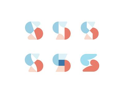 S Letter logo s letter logo s logo lettermark symbol letter s typography design vector letter logo geometric branding logo