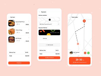 Food Delivery App food app design ios dood ux food delivery app food app mobile app app design mobile uiux ui