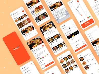 Food Delivery App clean ui mobile app food app uiux ui design ios mobile app food delivery app food design ui