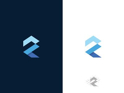 R Logo Mark abstract geometric monogram letter logo