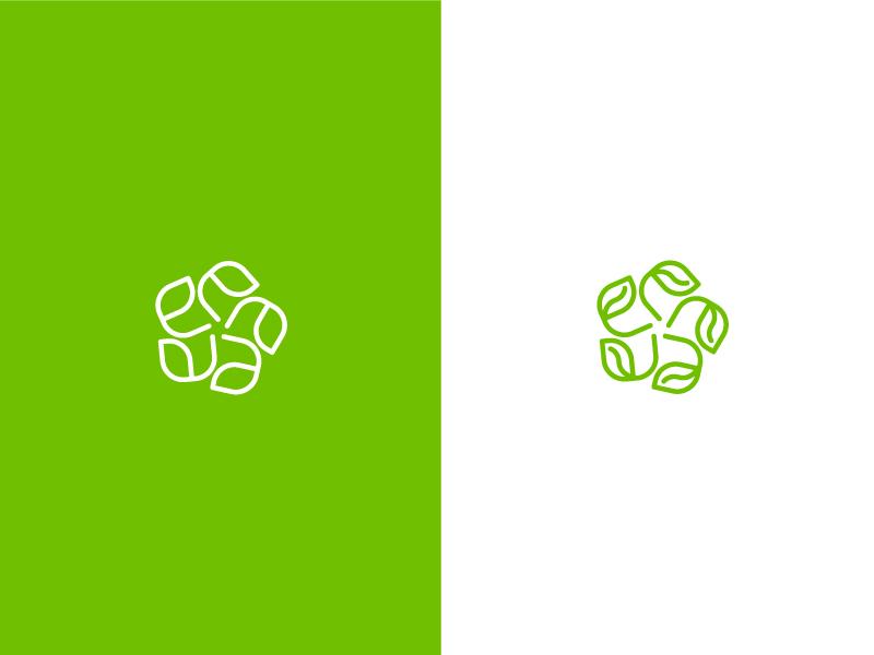 Organic Logo emblem beauty logo creative ayurvedic cosmetics logo leaf feminine organic