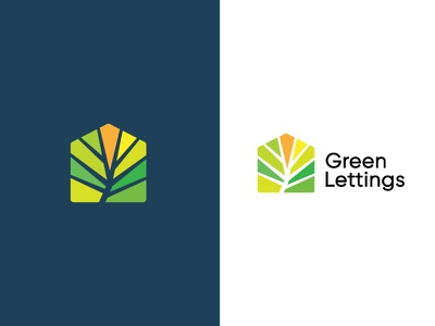 Green Lettings real estate mortage real estate green eco friendly colorful house realty lettings environmental logo leaf natural organic