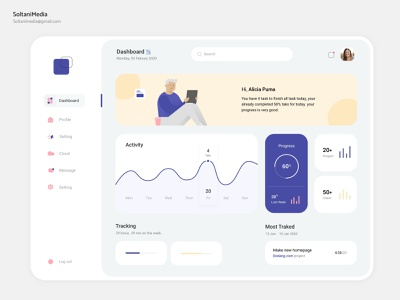 📉Dashboard UI Design | SoltaniMedia shopping ui dashboard ux sketch minimalist app application website minimal