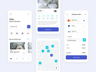 Booking App | UI Design SoltaniMedia web design uiux shopping icon design icon set hotel app booking ui sketch ux app application minimalist website minimal