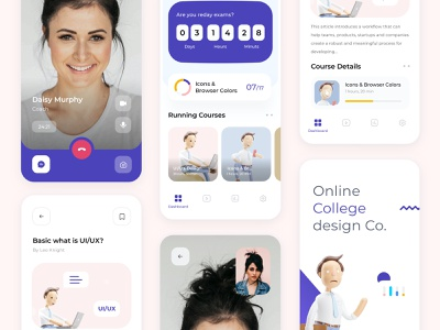 Online Courses Design | SoltaniMedia courses dashboard design icon set ui ux app minimalist website sketch minimal