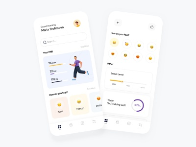 Wellness App dashboard sketch app minimalist website ux ui minimal design illustration