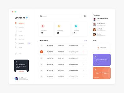 Admin Dashboard 🖤 app web shopping dashboard application minimalist ui ux website sketch minimal