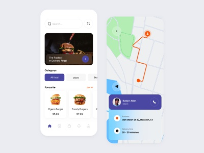 Food Delivery App app design dashboard shopping minimalist application ui website ux sketch minimal