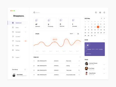 Online Shop Dashboard illustration design app minimalist ui ux website sketch minimal dashboard